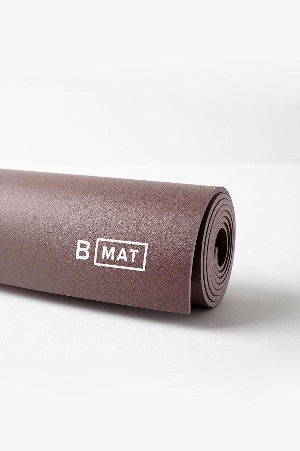 "<p><strong>B Yoga</strong></p><p><strong>$96.00</strong></p><p><a href=""https://us.byoganow.com/collections/b-mat-strong/products/the-b-mat-strong-6mm-cacao"" rel=""nofollow noopener"" target=""_blank"" data-ylk=""slk:SHOP IT"" class=""link rapid-noclick-resp"">SHOP IT</a></p><p>""My current go-to yoga mat is the <a href=""https://us.byoganow.com/collections/b-mat-strong/products/the-b-mat-strong-6mm-cacao"" rel=""nofollow noopener"" target=""_blank"" data-ylk=""slk:B MAT Strong in Cacao"" class=""link rapid-noclick-resp"">B MAT Strong in Cacao</a>. This thicker mat (6mm) is perfect for my at-home practice, offering loads of cushioning and support with the same renowned B MAT grip. I also love this color; it's so grounding and soothing, which is important these days. And, of course, all B MATs are eco-friendly based on their production process and composition.""</p><p><em>—Andrea Morris, <em><a href=""https://us.byoganow.com/"" rel=""nofollow noopener"" target=""_blank"" data-ylk=""slk:B Yoga"" class=""link rapid-noclick-resp"">B Yoga</a></em> Founder & CEO</em></p>"