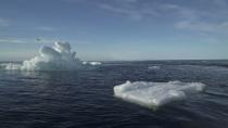 FILE PHOTO: Floating ice is seen during the expedition of the The Greenpeace's Arctic Sunrise ship at the Arctic Ocean