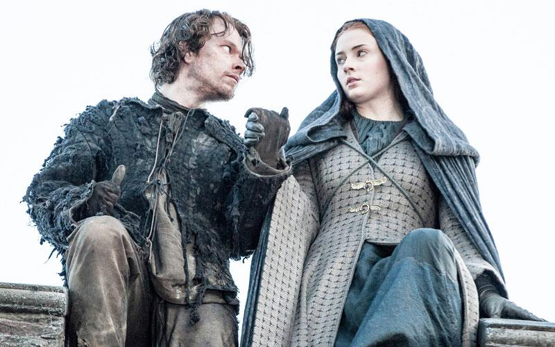 """Sophie Turner posted the loveliest """"Game of Thrones"""" reunion photo with Alfie Allen, aka Theon Greyjoy"""