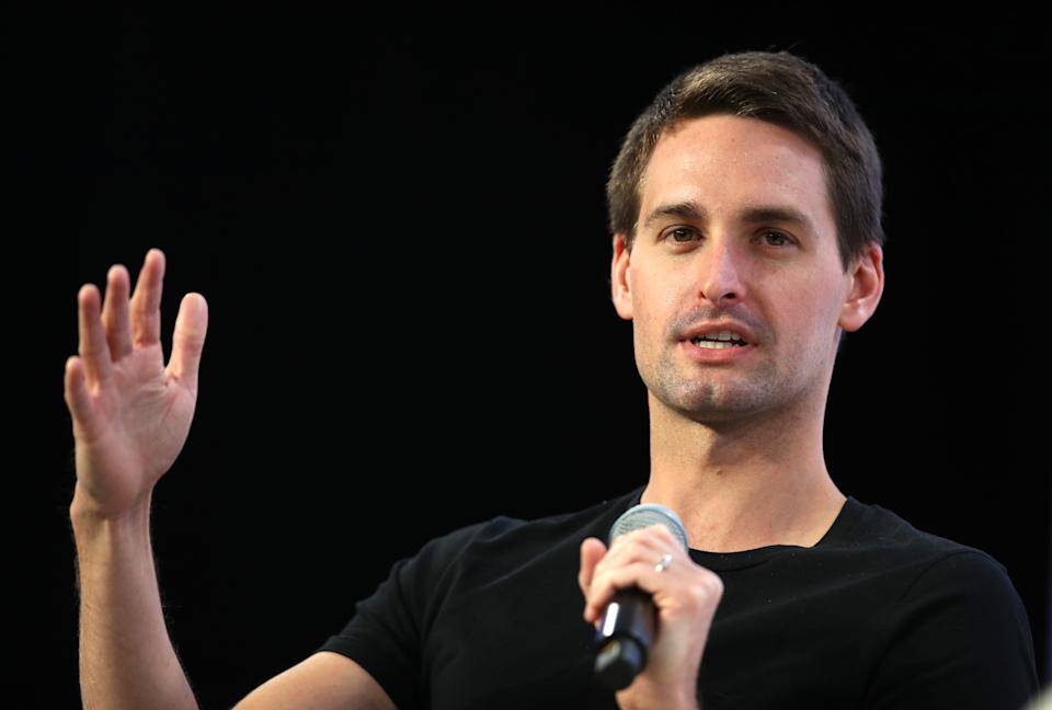SAN FRANCISCO, CALIFORNIA - OCTOBER 04: Snap Inc. co-founder and CEO Evan Spiegel speaks during the Disrupt SF 2019 conference at Moscone Center on October 04, 2019 in San Francisco, California. TechCrunch Disrupt puts the spotlight on revolutionary startups and innovators. The three-day conference features interviews with industry leading entrepreneurs, investors and hackers. TechCrunch Disrupt SF runs through October 4.  (Photo by Justin Sullivan/Getty Images)