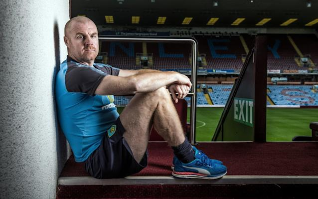 """Sean Dyche is explaining the nature of """"positive realities"""", the phrase he uses for being honest with his players about the challenge they face at the Etihad Stadium on Saturday against a Manchester City team that are not just top of the Premier League but playing like they very much intend to stay there. The Burnley manager has not built the career he has now from being unrealistic about his teams' capabilities and in his third season as a Premier League manager, it is impossible to ignore how far he has come. After Craig Shakespeare's sacking at Leicester City this week we are down to four permanent English top-flight managers, and top of them all is Dyche with a side that has lost just once in the league this season and begin the day in seventh place. Pep Guardiola's team currently look like they could dismantle most sides in Europe and yet, as the City manager will know from the narrow margins of victory over Burnley last season, Dyche is quite capable of finding ways to compete. The 46-year-old shakes his head at the suggestion that this game represents a free hit for his club. """"Don't think we just do five-a-sides all week and say 'Oh well, roll out and hope for the best'. We want to do our job, and deliver a performance. That's important."""" As that rare thing, an English manager in the Premier League, Dyche's career has been one in which he has had to survive first and learn fast, through two promotions and one relegation with Burnley. Ten years ago last summer a casual chat with Aidy Boothroyd on a bench at the Watford training ground persuaded the latter to appoint Dyche as the Under-18s coach. Ironic, really, Dyche reflects - Boothroyd had not wanted him as a player but was big enough to see his qualities as a coach. So began the journey that led to Burnley, where he will pass his fifth anniversary as manager next week, after the meeting with Guardiola. Last year they bumped into each other after the game at Turf Moor, a 2-1 win for the away side, and Guardi"""