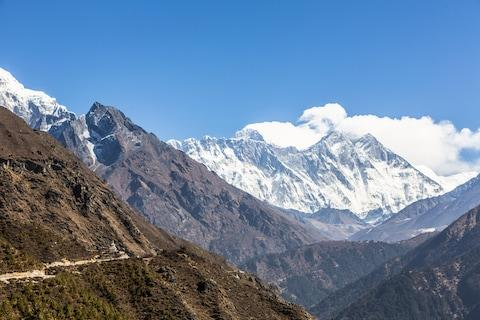 A hiking trail in the Himalayas - Credit: DIDIER MARTI