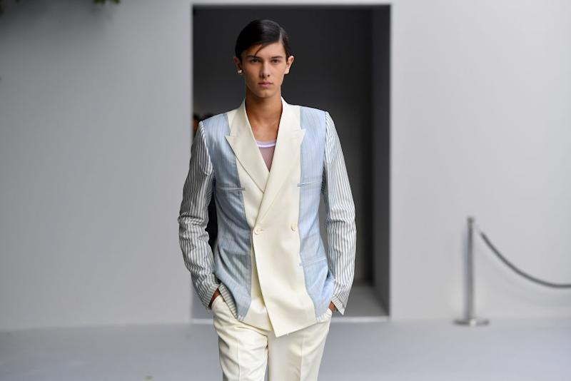 Prince Nikolai of Denmark walks the runway during the Dior Homme Menswear Spring/Summer 2019 show as part of Paris Fashion Week on June 23, 2018 in Paris, France. (Photo by Jacopo Raule/Getty Images)
