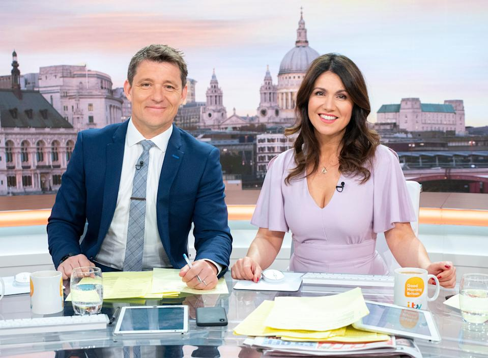 Ben Shephard is standing in for Piers Morgan on 'Good Morning Britain' with Susanna Reid. (ITV)