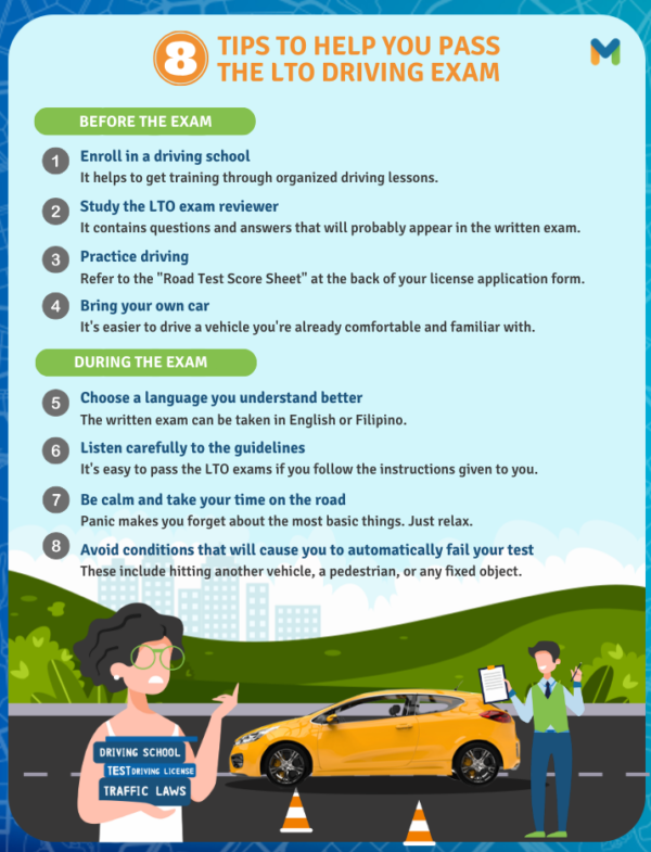 Before and During the LTO Driving Exam Checklist: Ways and Tips to Pass the LTO Driving Test