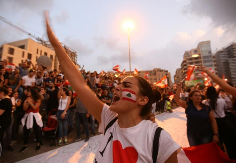The Lebanese have been protesting against what they view as a corrupt and arrogant ruling class unable to lif the country out of its daily woes (AFP Photo/Anwar AMRO)