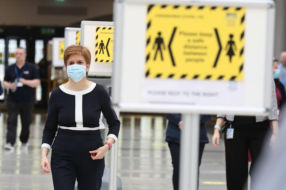 Ms Sturgeon left open the possibility of a local lockdown (POOL/AFP via Getty Images)