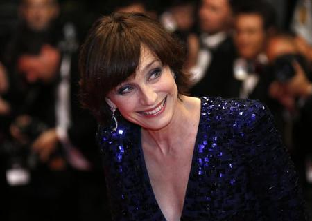 "Cast member Kristin Scott Thomas arrives for the screening of the film ""Only God Forgives"" in competition during the 66th Cannes Film Festival"