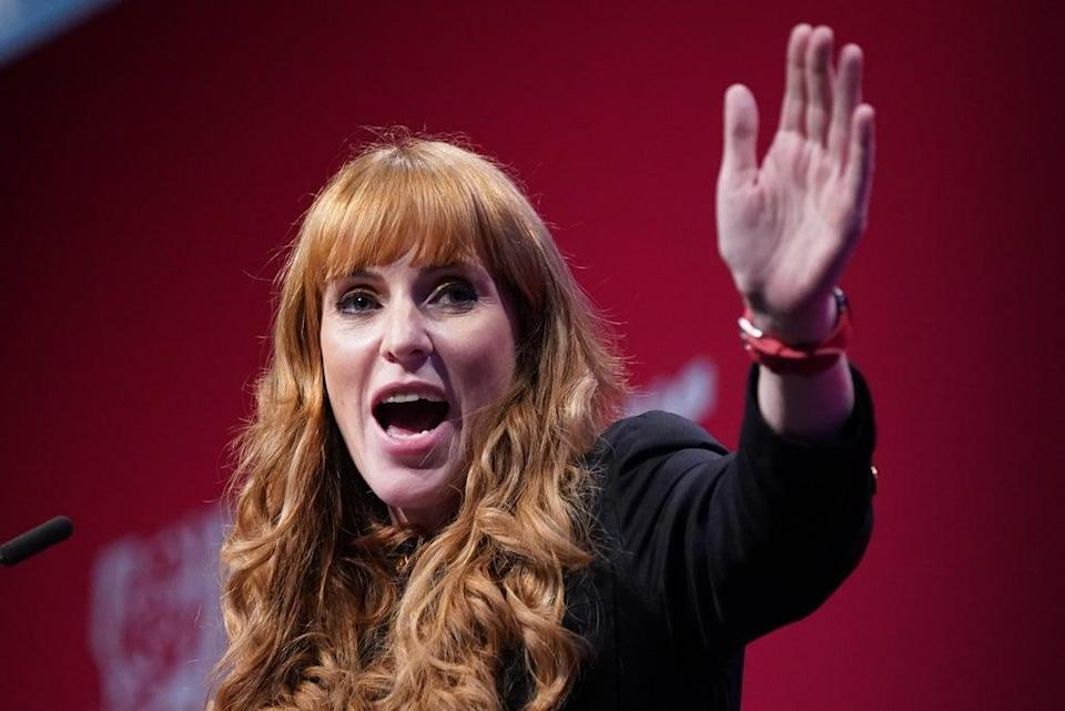 Labour deputy leader Angela Rayner during her conference speech (Stefan Rousseau/PA) (PA Wire)