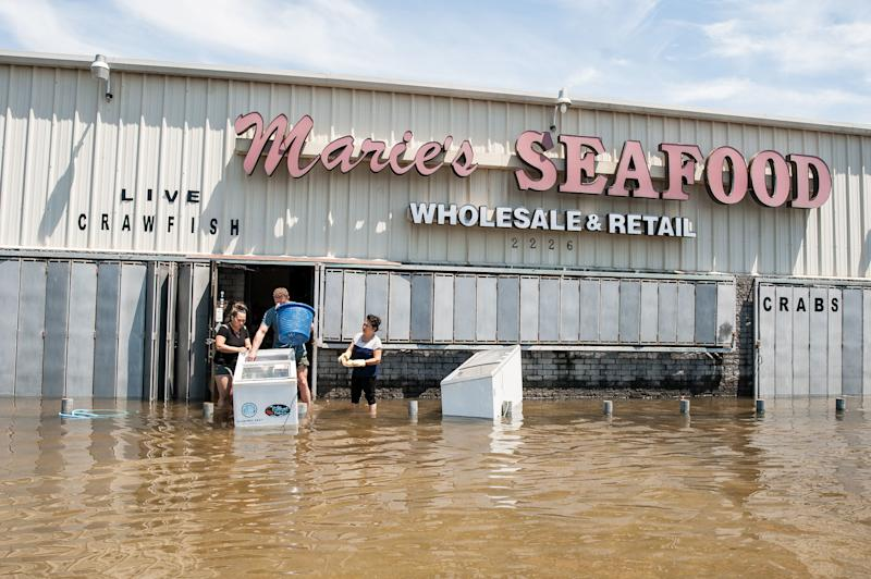 Marie's Seafood market on Thursday. (Joseph Rushmore for HuffPost)