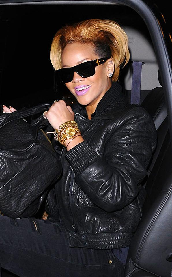 "Is Rihanna trying out for the St. Louis Rams? If not, why is she rocking this horn-like hairdon't? Jackson Lee/<a href=""http://www.splashnewsonline.com"" target=""new"">Splash News</a> - October 19, 2009"