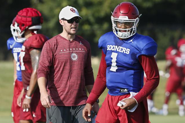 Jalen Hurts is now officially Oklahoma's starting quarterback. (AP Photo/Sue Ogrocki, File)