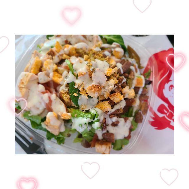 """<p><strong>What is it:</strong> Made fresh daily with Wendy's signature lettuce blend, spicy, crispy chicken breast, diced tomatoes, shredded pepper jack cheese, applewood smoked bacon, and, of course, jalapeños, all topped with a crispy jalapeño and cheddar crouton mix and jalapeño ranch. If you're reading this, you must like jalapeños so, yes, this is the one you should get. Promise.</p><p><strong>Why it's God tier:</strong> Yes, it's a salad. But that doesn't mean it's not hella tasty.</p><p><a href=""""https://www.instagram.com/p/CLkVkfehFnk/"""" rel=""""nofollow noopener"""" target=""""_blank"""" data-ylk=""""slk:See the original post on Instagram"""" class=""""link rapid-noclick-resp"""">See the original post on Instagram</a></p>"""
