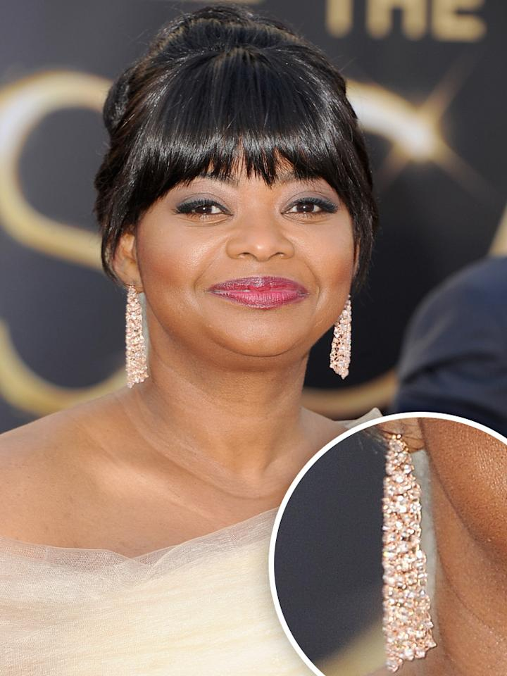 Octavia Spencer arrives at the Oscars in Hollywood, California, on February 24, 2013.