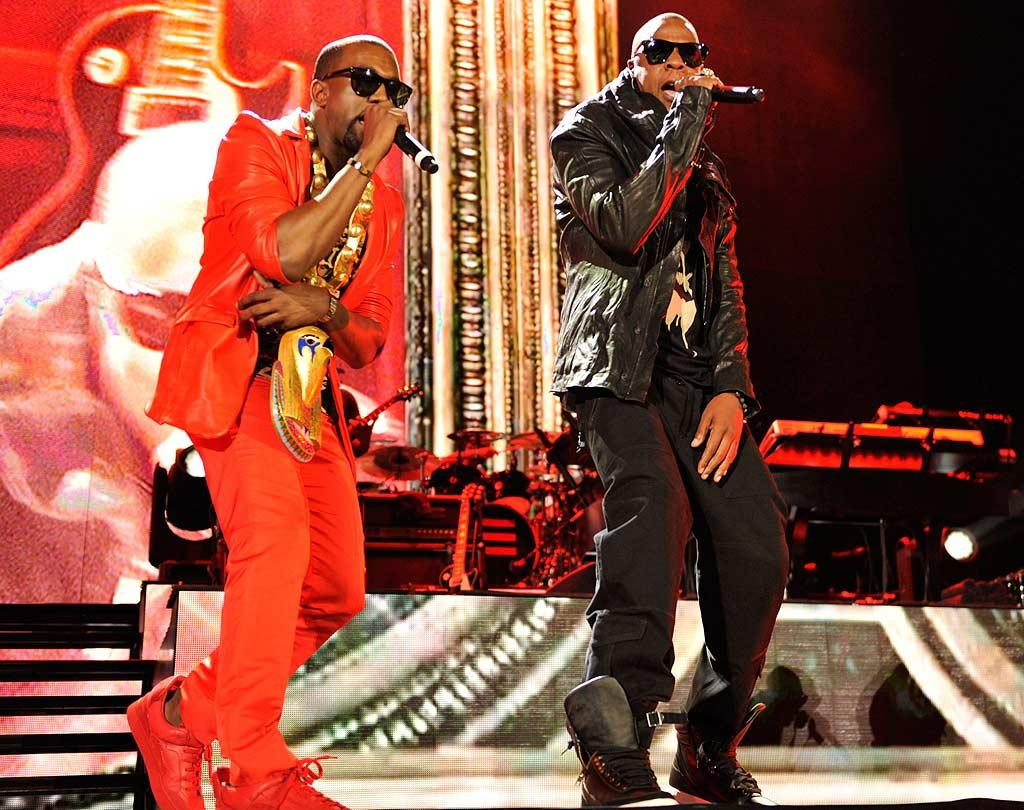 """Kanye West was also in the house fresh off his VMA stint wearing what looked to be the same red getup he donned at the awards show. Kevin Mazur/<a href=""""http://www.wireimage.com"""" target=""""new"""">WireImage.com</a> - September 13, 2010"""