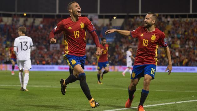 Spain 3 Albania 0: World Cup place wrapped up as Pique gets mixed reception