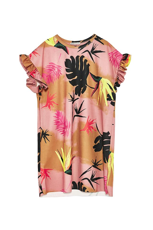 """<p>A colorful beach coverup you can wear with flip flops, or as a looser sack dress for weekend grocery store trips.<span></span></p><p><strong>Chalk Pink Dress, $40; <a rel=""""nofollow"""" href=""""https://www.zara.com/us/en/-c401501p4538004.html""""><span>zara.com</span></a>.</strong></p>"""