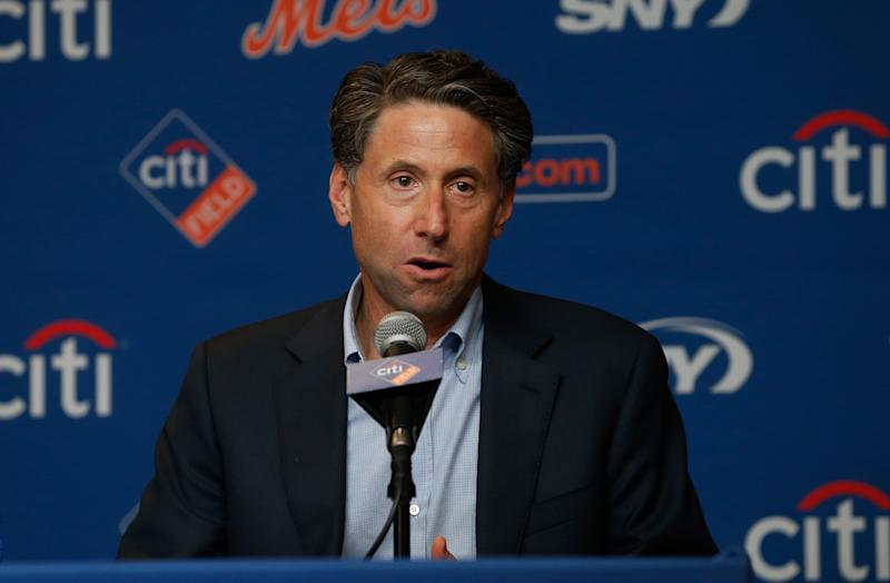 Mets COO Jeff Wilpon was said to be leaving in the team within five years, but the deal may be falling through. (Photo by Jim McIsaac/Getty Images)