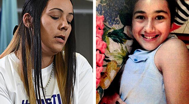 Cindy, left, speaking at the press conference was visibly upset and shaken by Tiahleigh's, left, death. Source: AAP