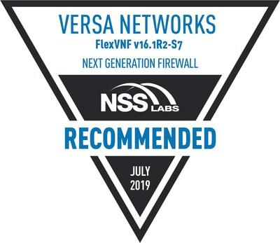 NSS Labs 2019 Recommended NGFW