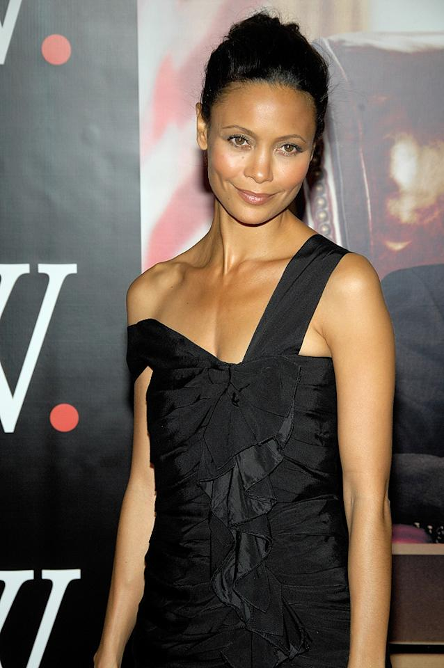 """<a href=""""http://movies.yahoo.com/movie/contributor/1800018708"""">Thandie Newton</a> at the New York premiere of <a href=""""http://movies.yahoo.com/movie/1810026489/info"""">W.</a> - 10/14/2008"""