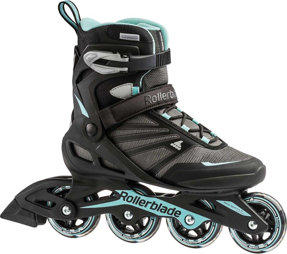 "<p><strong>Rollerblade</strong></p><p>dickssportinggoods.com</p><p><strong>$99.99</strong></p><p><a href=""https://go.redirectingat.com?id=74968X1596630&url=https%3A%2F%2Fwww.dickssportinggoods.com%2Fp%2Frollerblade-womens-zetrablade-inline-skates-16rolwztrbldwms15ils%2F16rolwztrbldwms15ils&sref=https%3A%2F%2Fwww.womenshealthmag.com%2Ffitness%2Fg34574615%2Fbest-roller-blades%2F"" rel=""nofollow noopener"" target=""_blank"" data-ylk=""slk:Shop Now"" class=""link rapid-noclick-resp"">Shop Now</a></p><p>These relatively affordable blades are great for beginners, featuring a soft and comfortable boot design for easy striding. The BioDynamic upper shell and cuff buckle closure provide stability for wobbly ankles (hi, hello—me!), making sharp turns or uneven grounds a lot more manageable. </p><p><strong>Rave review:</strong> ""I love these rollerblades. I haven't rollerbladed since I was 12 (20 years ago), and I decided I'd like to give it a shot as an adult since I liked it a lot as a kid. These rollerblades are pretty comfortable and cute. They don't go super fast, but I wasn't looking for top speed by any means. I typically wear size 9 shoes and purchased a size 10. The feel a tad big, but the 9's felt a tad small, and since you can really strap into these I thought the size up would be better...and I'm happy with going that route."" <em>—Kati, dickssportinggoods.com</em></p>"