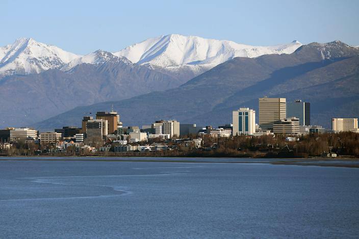 A view of downtown Anchorage Alaska.