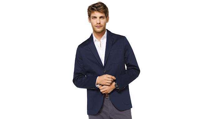 "<p>Men's Stretch-Cotton Blazer, $60, <a href=""https://www.michaelkors.com/stretch-cotton-blazer/_/R-US_CR71B9T3UZ?color=0436"" rel=""nofollow noopener"" target=""_blank"" data-ylk=""slk:michaelkors.com"" class=""link rapid-noclick-resp"">michaelkors.com</a> </p>"