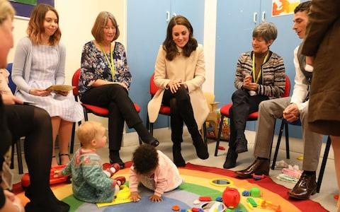 Duchess of Cambridge at children's centre - Credit: Richard Pohle /Getty