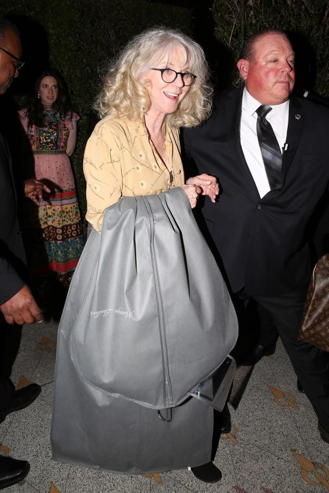 Blythe Danner at daughter Gwyneth Paltrow's engagement party.