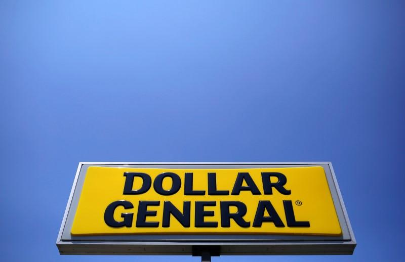 A sign is seen outside a Dollar General store in Chicago