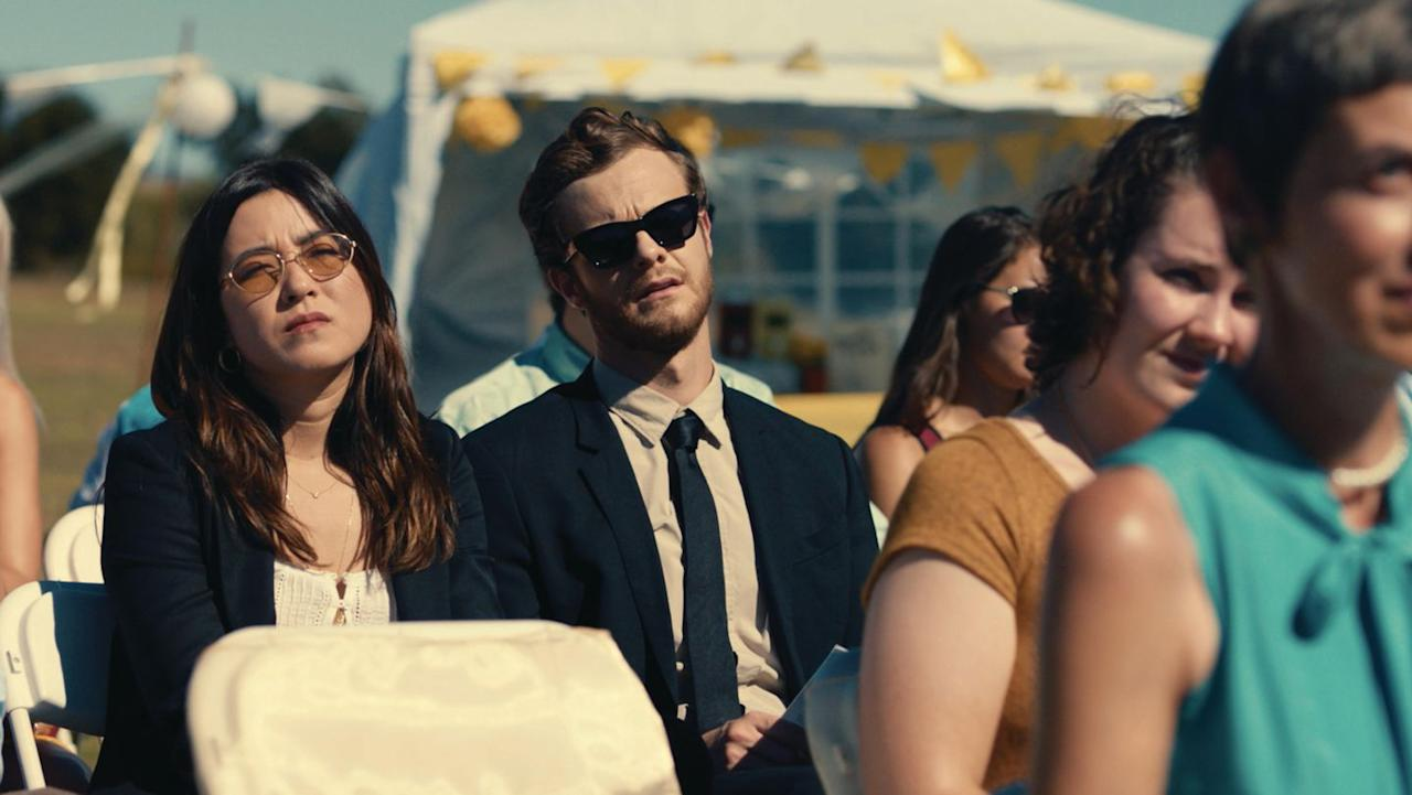 <p>Jack Quaid and Maya Erskine star in this sharp comedy-which is equal parts rom-com and buddy film-about a pair of college pals who, during a summer when they have a wedding to attend almost every weekend, team up to survive a series of tedious situations at the dreaded single-friends' table.</p>