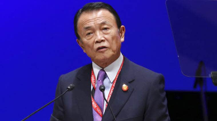 japanese deputy pm taro aso, taro aso racial comments, taro aso on japanese racial diversity, japan finance minister racial comments
