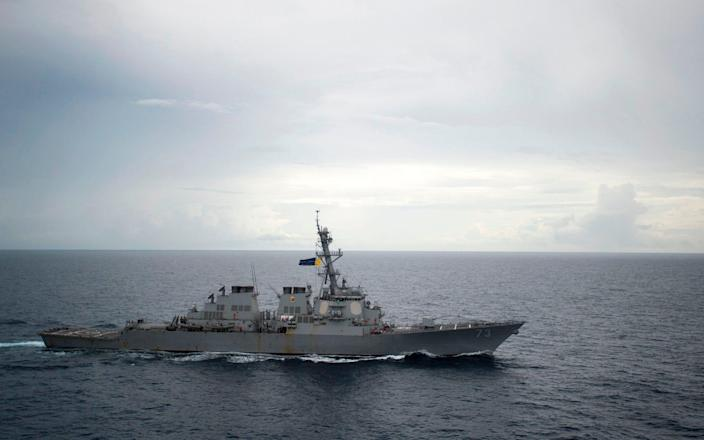 The US has made several excursions into the South China Sea, provoking Beijing's anger (file photo) - AFP