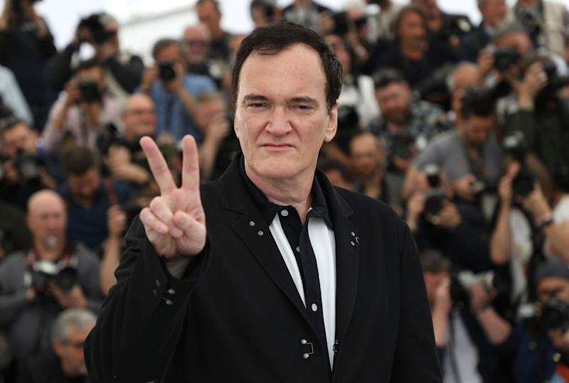 "Director Quentin Tarantino attends the ""Once Upon a Time in Hollywood"" premiere at Cannes (credit: AP)"