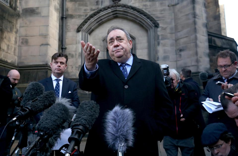 Former first minister Alex Salmond successfully challenged the way the Scottish Government dealt with complaints against him (Jane Barlow/PA)
