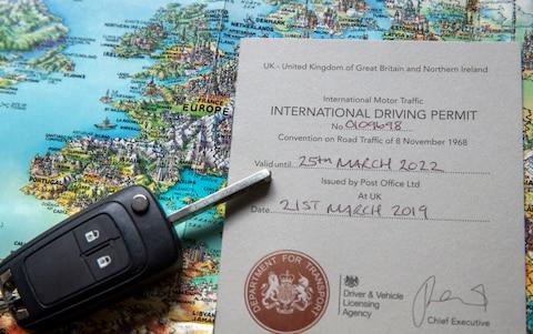 Brexit International Driving Permit IDP - Credit: Steve Parsons /PA