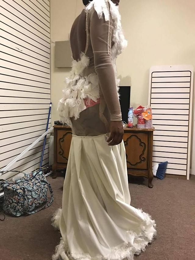 This prom dress is the subject of controversy. (Photo: Sham Sincere Lewis/Facebook)