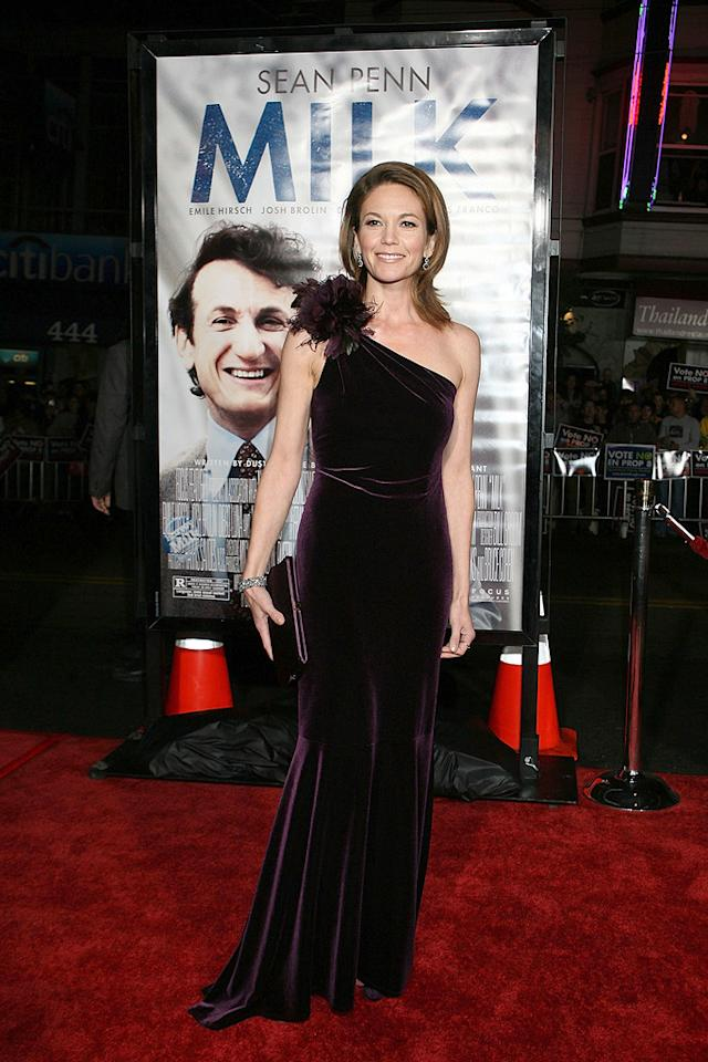 "<a href=""http://movies.yahoo.com/movie/contributor/1800020036"">Diane Lane</a> at the San Francisco premiere of <a href=""http://movies.yahoo.com/movie/1810041985/info"">Milk</a> - 10/28/2008"