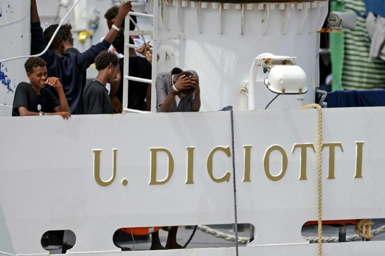 The Diciotti vessel has been docked at the Sicilian port of Catania since Monday night, after the Italian government blocked migrants from leaving