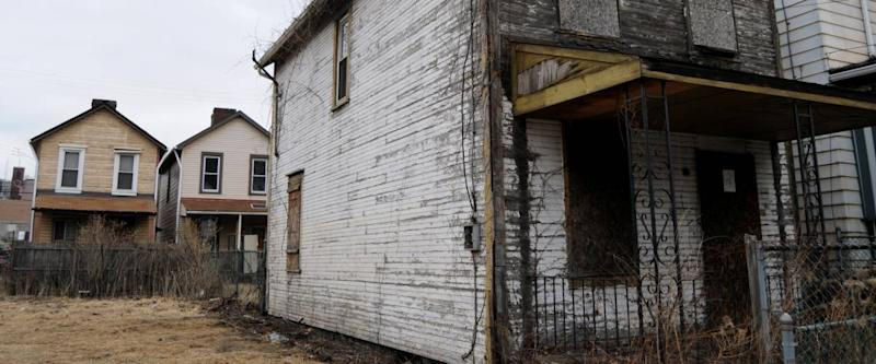 Shuttered and rotten, a house is destined to be leveled in Braddock, Pennsylvania
