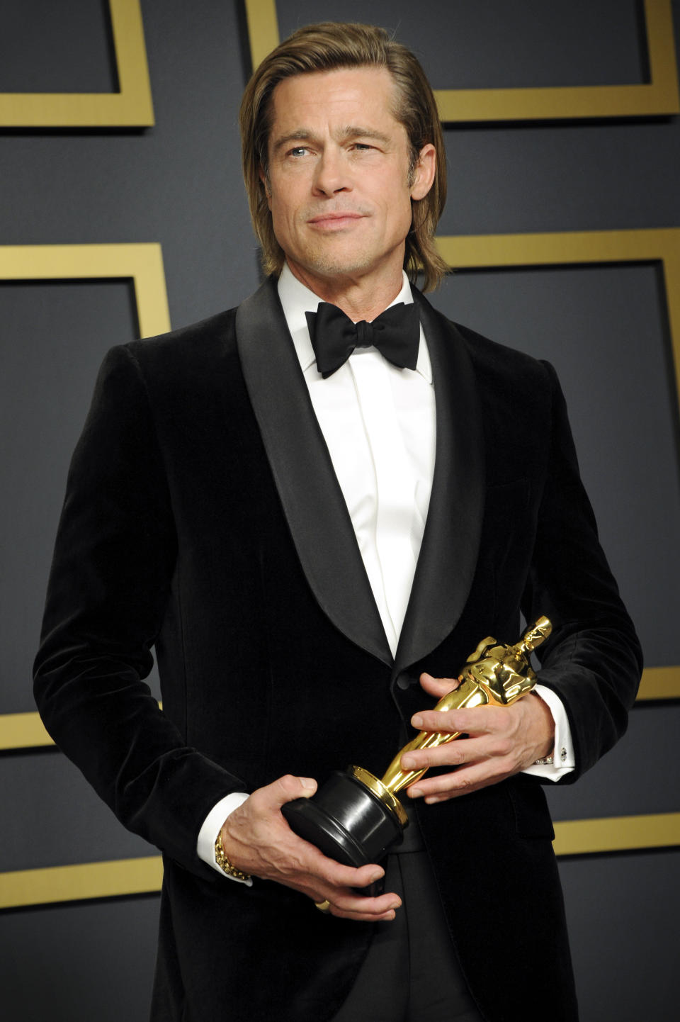 <p>Brad Pitt, who won last year for his role in <em>Once Upon A Time In Hollywood</em>. (Kurt Krieger/Corbis via Getty Images)</p>