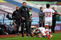 Southampton face a nervous wait to find out the extent of Danny Ings's (second right) knee injury