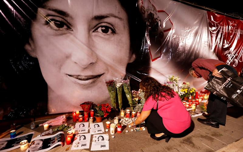 Daphne Caruana Galizia was murdered in 2017 by a car bomb - REUTERS