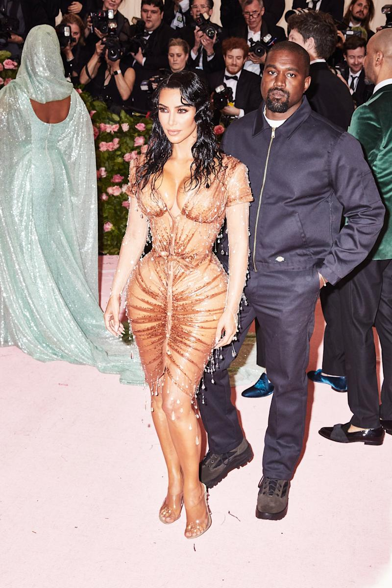 Kim Kardashian on the red carpet at the Met Gala in New York City on Monday, May 6th, 2019. Photograph by Amy Lombard for W Magazine.