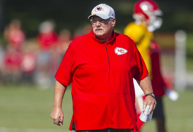Chiefs coach Andy Reid shared details of the team's training camp COVID-19 protocols on Monday. (Photo by Nick Tre. Smith/Icon Sportswire via Getty Images)