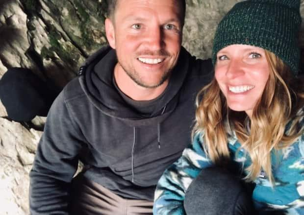 Sandra Soares, right, snapped this photo with Page on their first date together, when they bushwhacked up Grey Mountain outside of Whitehorse in search of a cave.