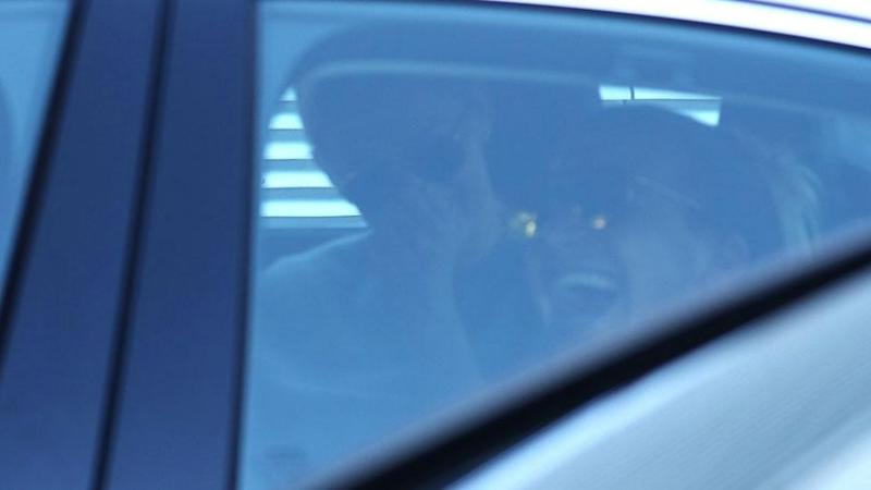 Jasmine and Christian seen leaving in awaiting car. Source: Diimex