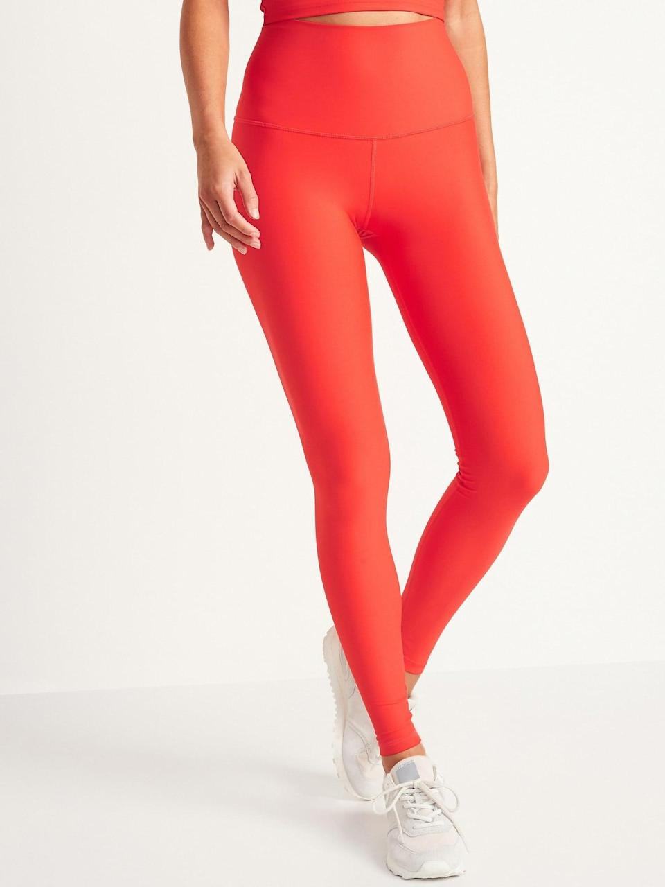 <p>These <span>Old Navy Extra High-Waisted Powersoft Light Compression Hidden-Pocket Leggings</span> ($30, originally $40) come in so many colors. They're flattering and easy to move in. Basically, you need them.</p>