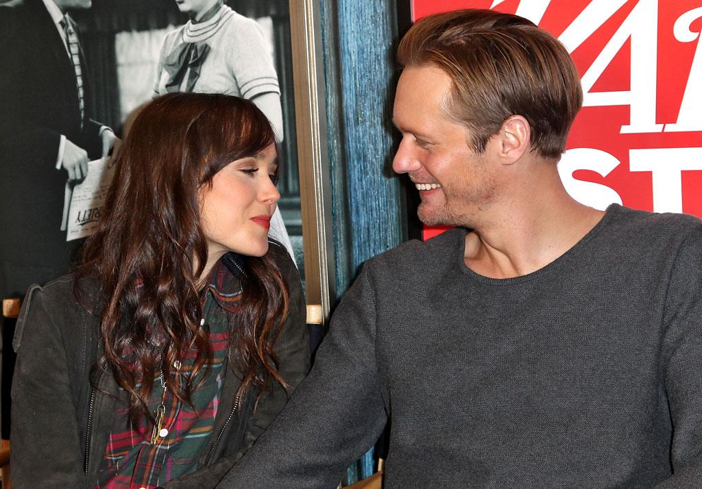 PARK CITY, UT - JANUARY 21:  (L-R) Ellen Page and Alexander Skarsgard attend Day 3 of the Variety Studio At 2013 Sundance Film Festival on January 21, 2013 in Park City, Utah.  (Photo by Jonathan Leibson/Getty Images)